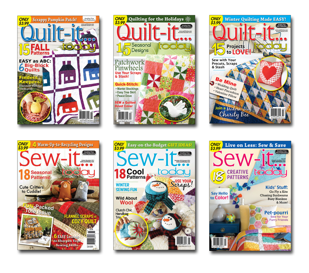 Quilt-it...today and Sew-it...today recent issues