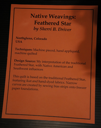 Native Weaving- Feathered Star Writeup