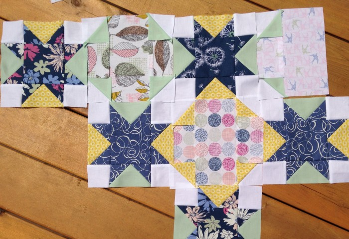 Work in progress by Sharon McConnell of Color Girl Quilts