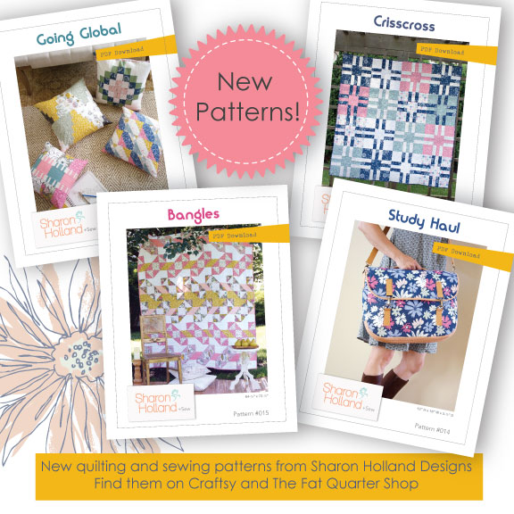 New Quilting and Sewing Patterns — Sharon Holland Designs