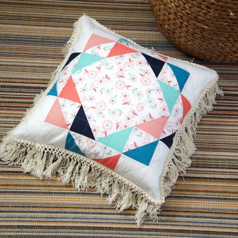 New Wave Pillow by Sharon Holland