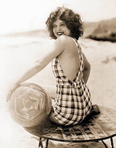 Vintage photo of movie star Clara Bow 1920s