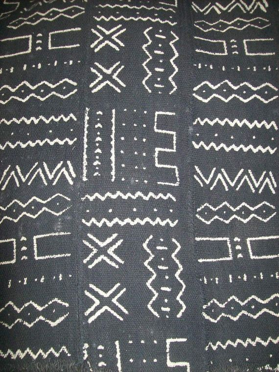 Vintage African mud cloth