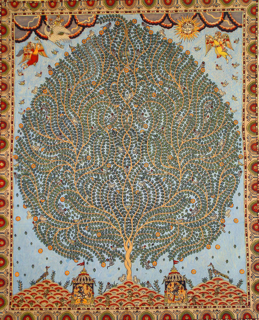 Tree of Life on Mata ni Pachedi, printed cloth offering to the mother goddess http://eyeburfi2.tumblr.com/page/16