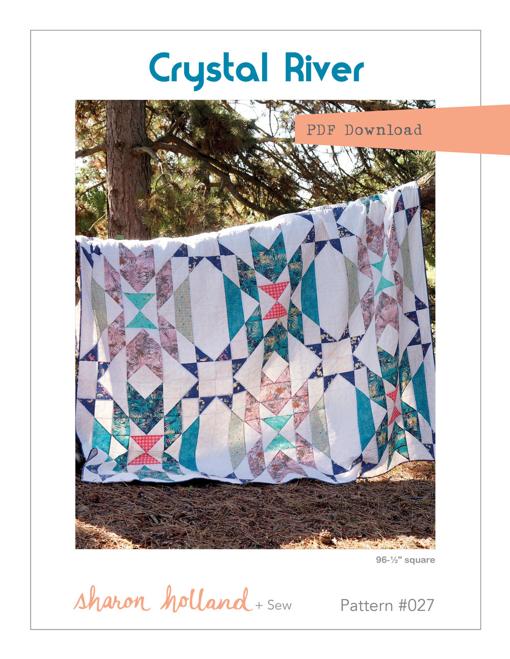 Crystal River quilt pattern available at Craftsy