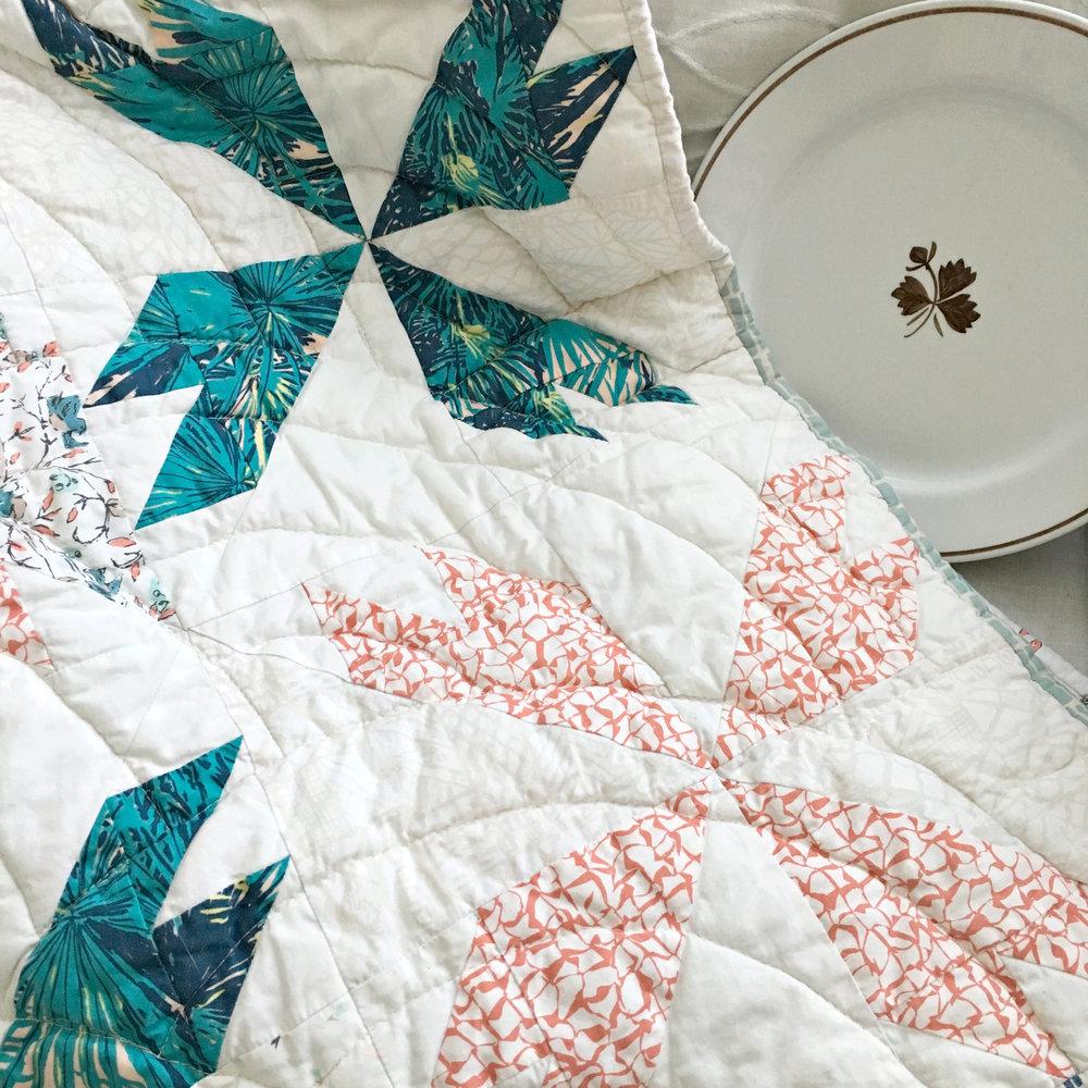 Tea Leaf Quilt Pattern Sharon Holland Designs