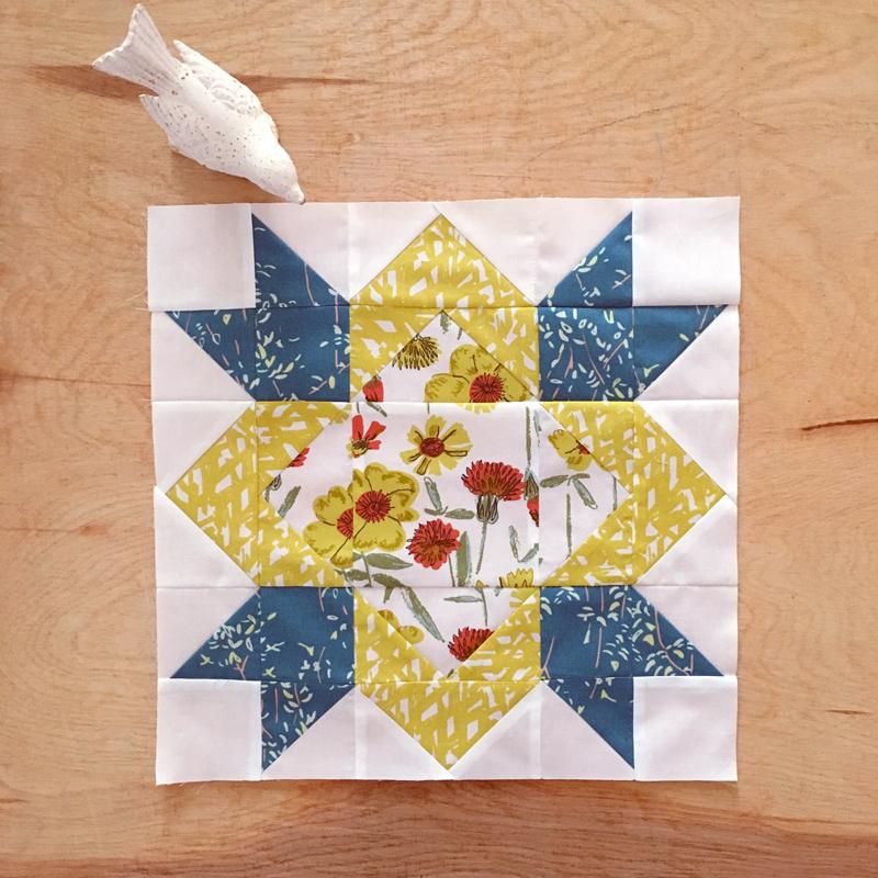Sewcial Bee Sampler Block 7 Sharon Holland Designs