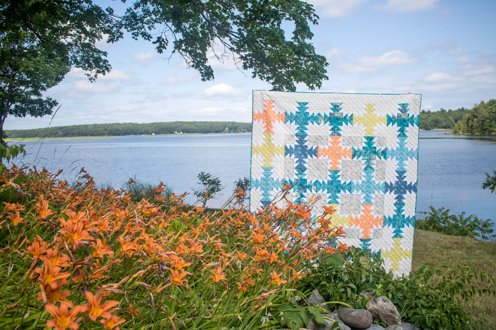 Daylily by Sharon Holland for the 2018 Quilter's Planner. Photo courtesy of Kitty Wilkin (NightQuilter)