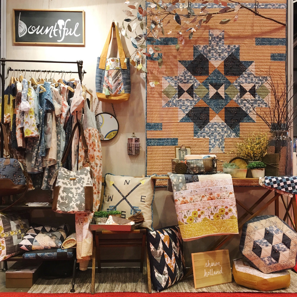 Bountiful booth Spring Quilt Market 2017
