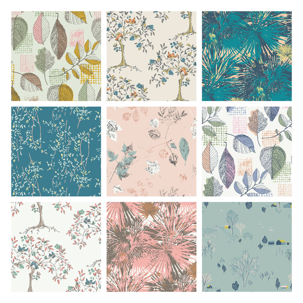 Leaf prints by Sharon Holland for Art Gallery Fabrics