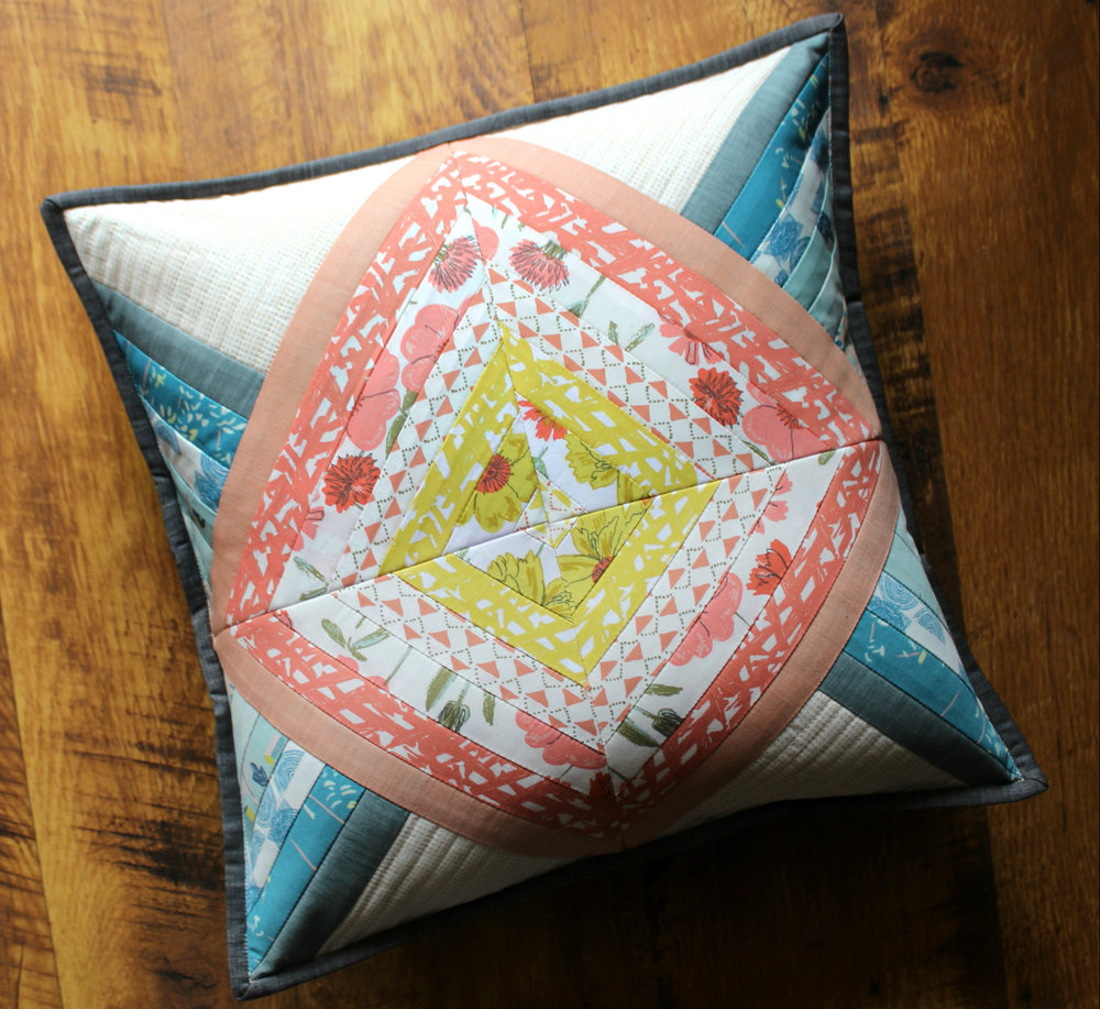 Bountiful Shine Pillow and photo by Maureen Cracknell Handmade