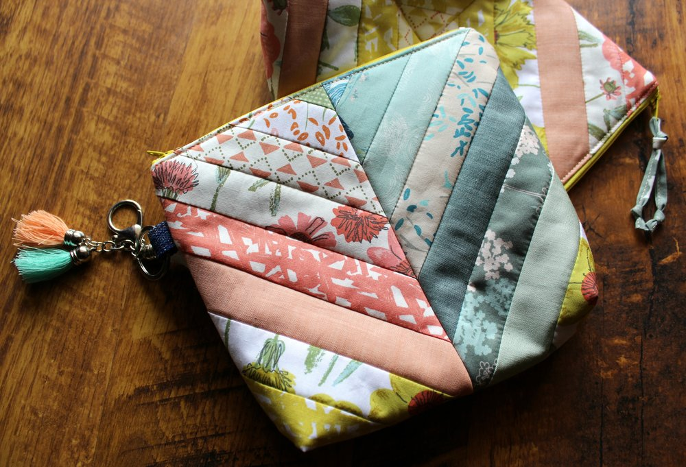 Bountiful zipper pouches and photo by Maureen Cracknell Handmade
