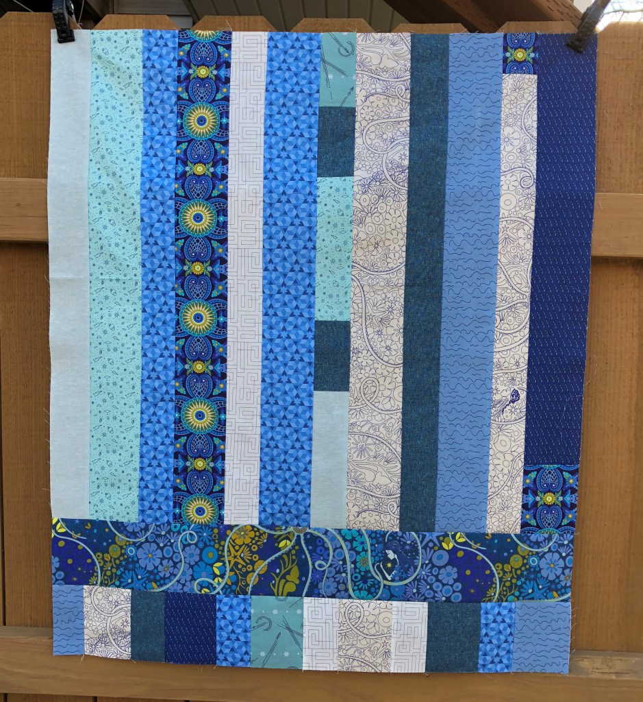 Photo and quilt top by Sarah Maxwell of Designs by Sarah J.