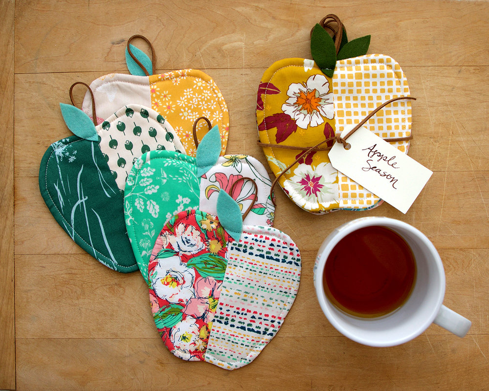 Apple Season Coasters by Sharon Holland