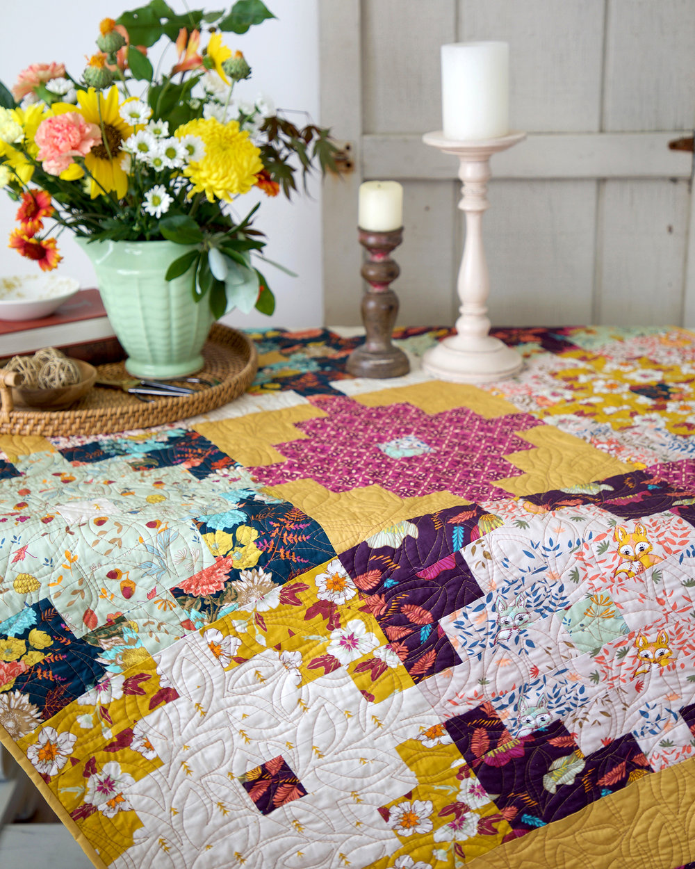 Wild Honey quilt by Sharon Holland