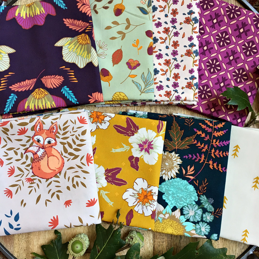 Autumn Vibes fabrics by Maureen Cracknell