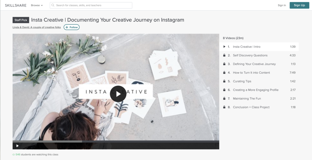 Insta Creative | Documenting Your Creative Journey on Instagram with Linda & David