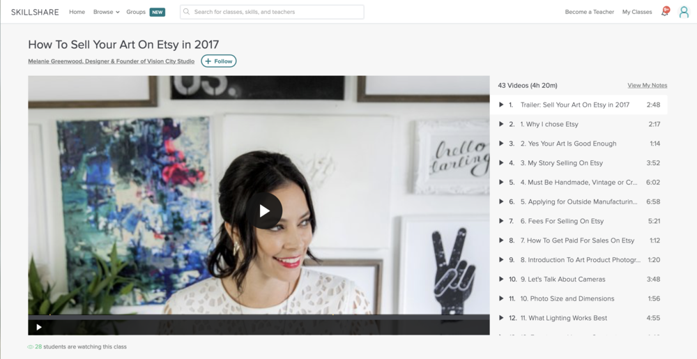 How to Sell Your Art on Etsy in 2017 with Melanie Greenwood