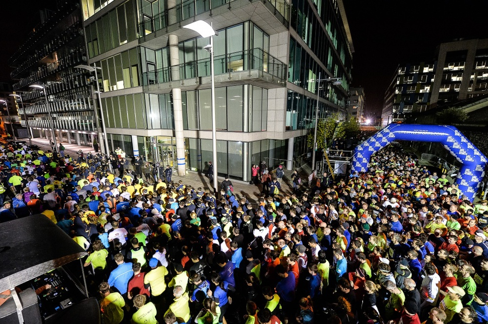 """Life Style Sports """"Run in the Dark"""" Dublin 2013 . The aim of the run in Dublin is to raise funds for the Mark Pollock Trust and connect people worldwide to fast-track a cure for paralysis."""