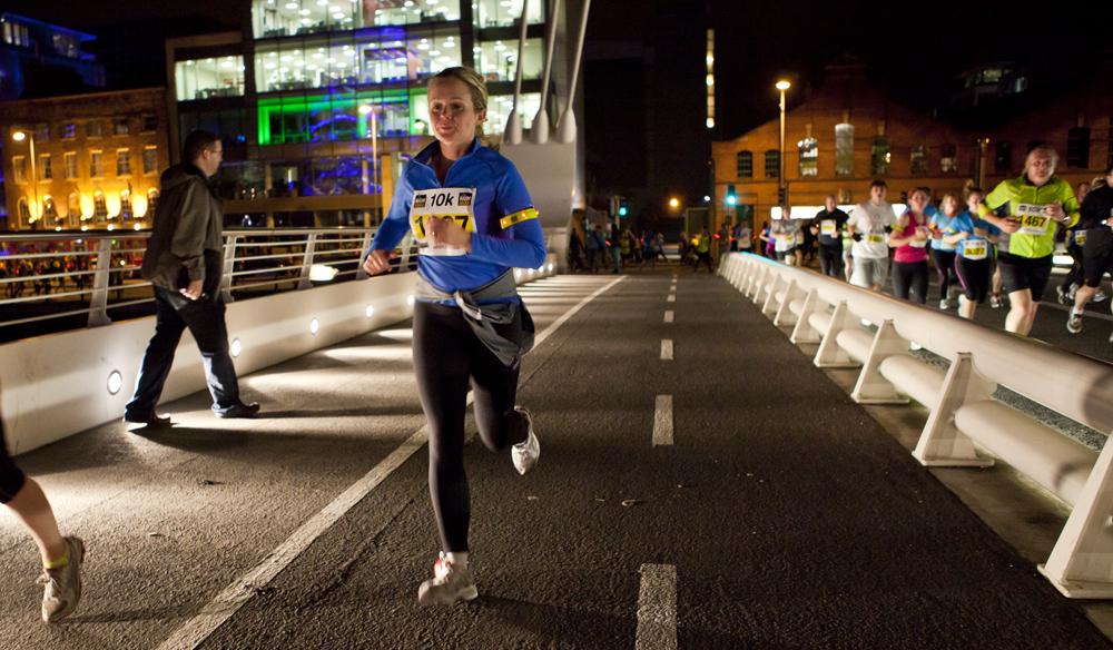 Life Style Sports Run in the dark for Mark Pollock. Run in Dublin, November 2012