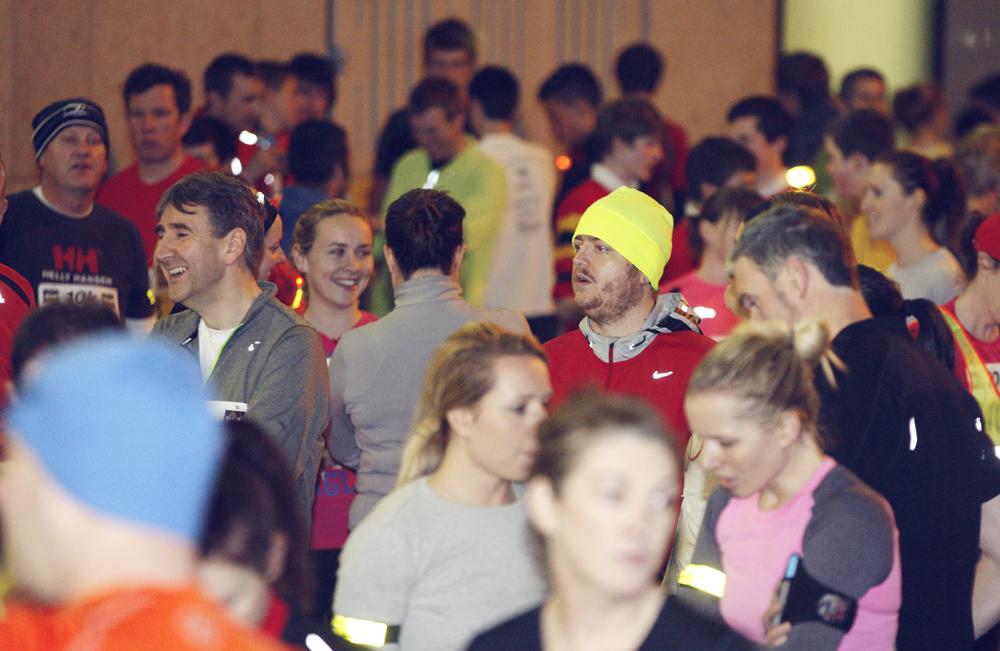 Life Style Sports Run in the dark for Mark Pollock. Finish line at run in Dublin, November 201
