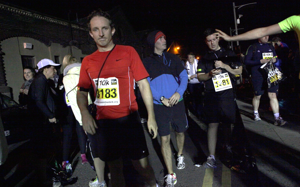 Life Style sports Run in the dark Participants running for Mark Pollock. Event organized by Piers White, Run in Dublin 2012