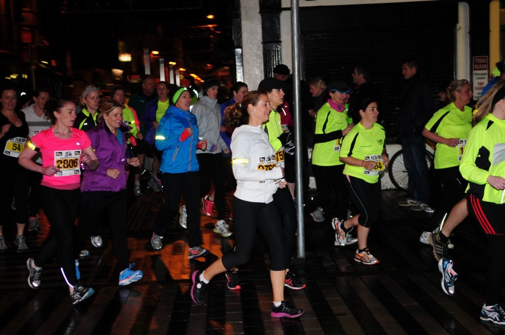 Run in the Dark Cork November 2013. The aim of the run in Cork is to raise funds for the Mark Pollock Trust to fast-track a cure for paralysis. Event created by Piers White.