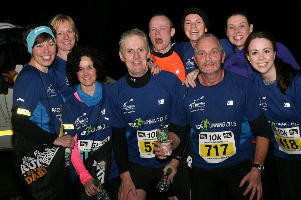 4th annual Life Style Sports Run in the Dark, Belfast 2014 to support The Mark Pollock Trust's mission to fast-track a cure for paralysis. Event created by Piers White
