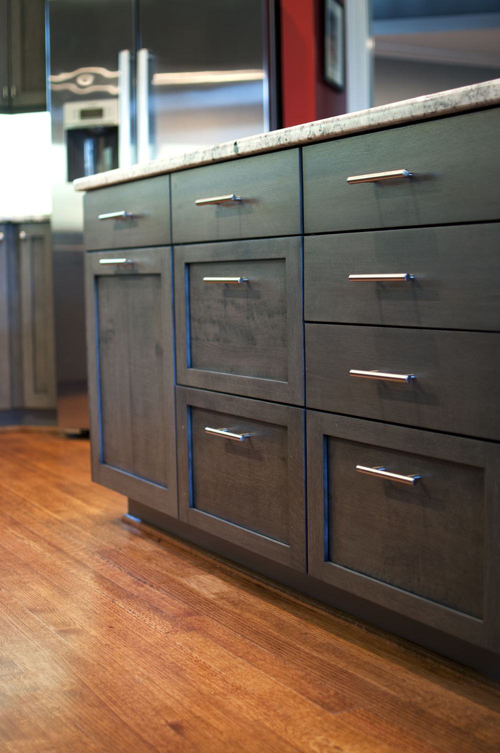 This Project Was A Full Kitchen Renovation, Including Demolition. The  Shaker Style Cabinet Door And Drawer Fronts Are Made Of Quarter Sawn White  Oak.