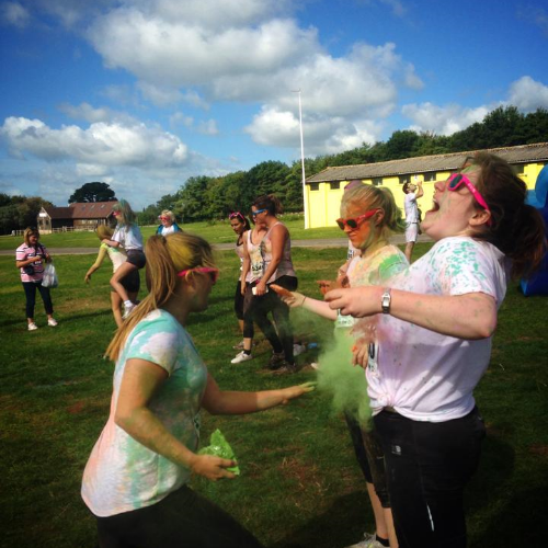 Throwing Paint at Colour Me Rad Bristol