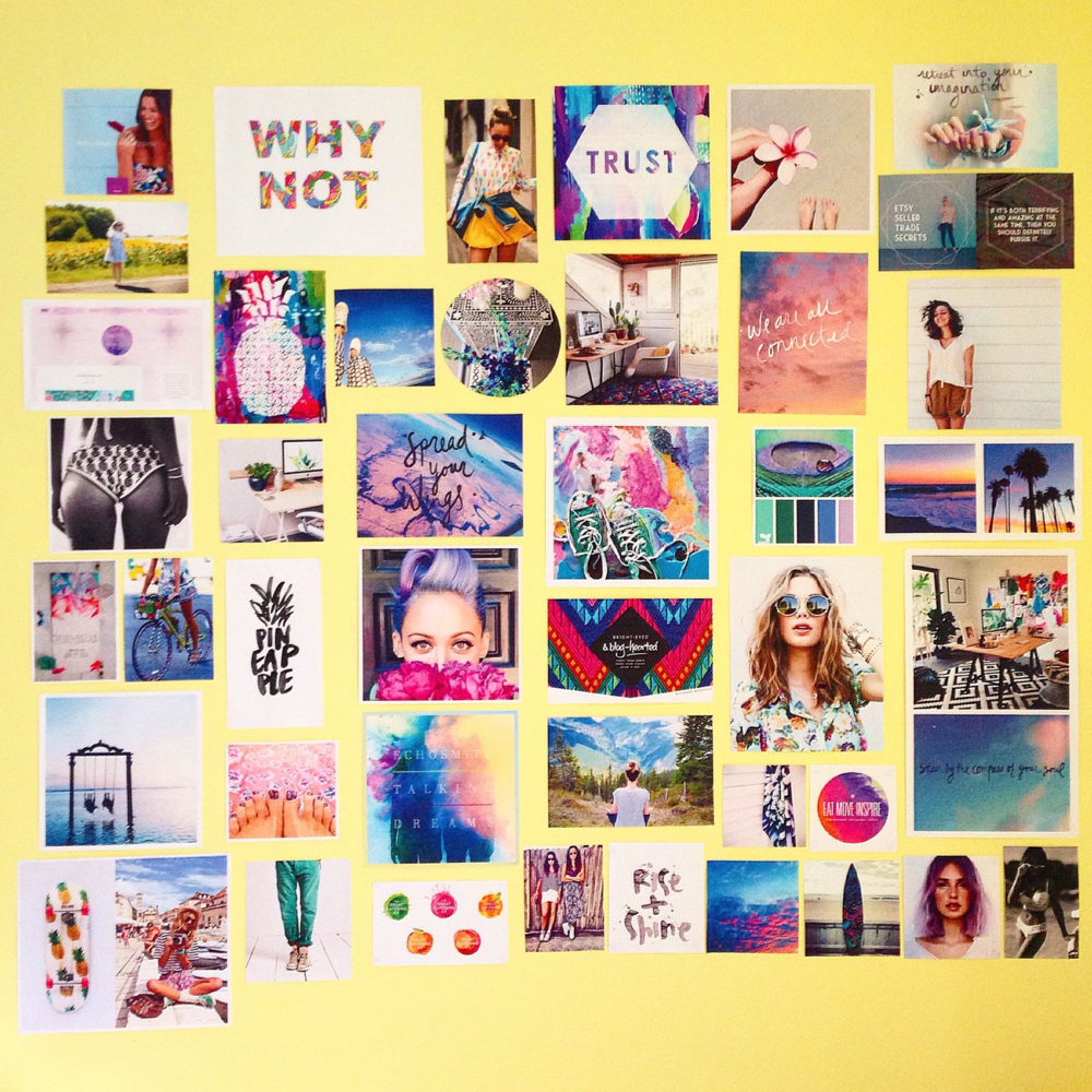 Bright-Eyed & Bold-Hearted Vision Board