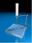 Water Equivalent Mini Phantom, Model 670 & 670S     Position 0.6cc Farmer (or smaller diameter) ion chamber using the 3-axis rotation stand, to measure head-scatter factors without side scatter contribution or electron contamination for x-ray beams.