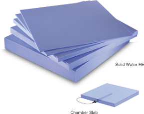 Solid Water High Equivalency (HE) provides improved uniformity and durability for higher homogeneity and 0.5% equivalence for therapy and imaging energy ranges. Standard and certified sizes available over a range of dimensions (including for the GMF, IMR and 2D arrays) and thicknesses 01.cm to 5.0cm.