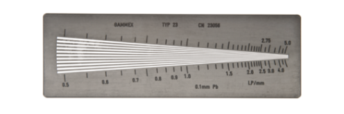 Resolution Test Pattern, 1 sector   Provides an easy method for measuring resolution and modulation transfer functions of x-ray systems. This product includes a 5-year warranty.