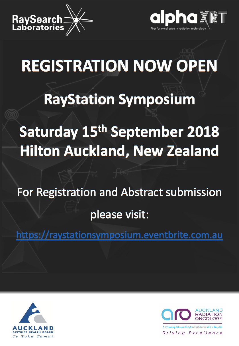 RayStation symposium registrations are now open — alphaXRT