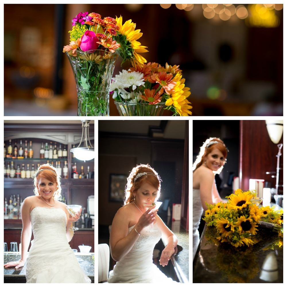 Some of my most favorite bridals...the bar staff cleared the area for us, and we had a blast taking these photos.