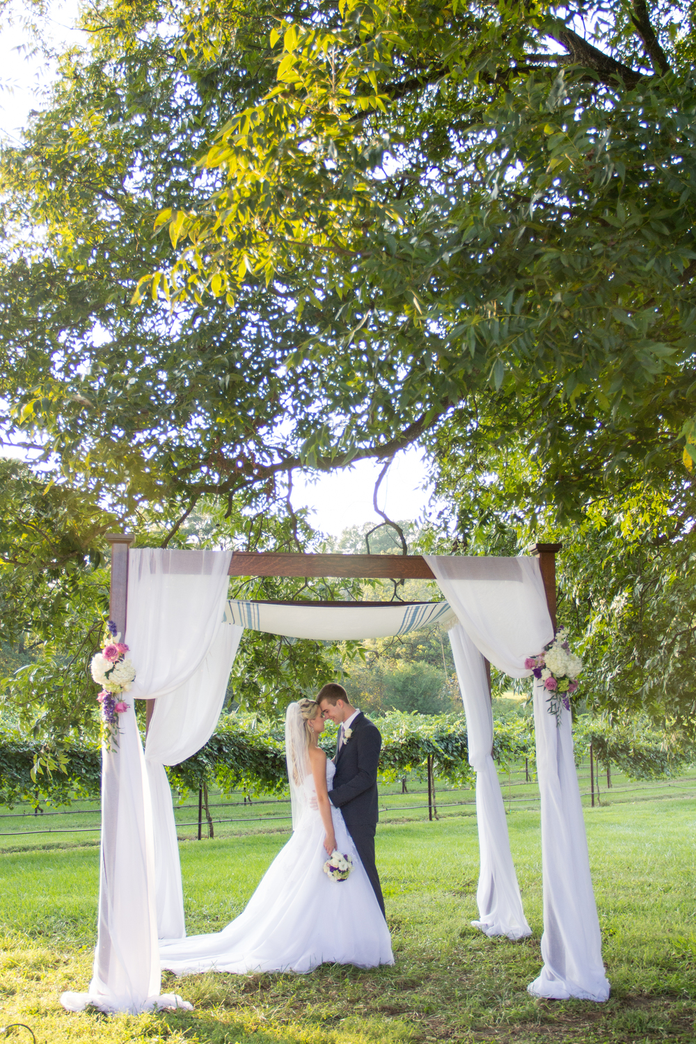 The day was absolutely beautiful and the sun began setting as soon as the ceremony ended.