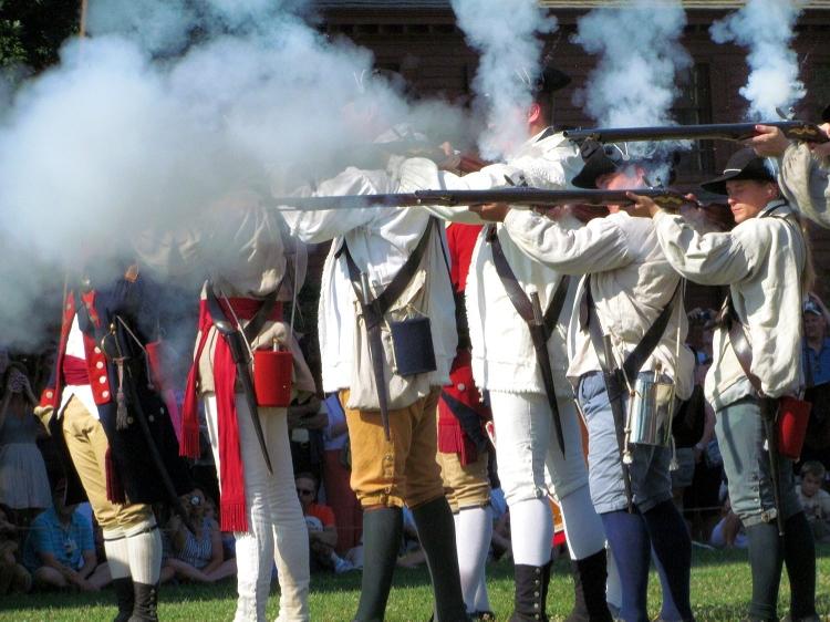 Watched reenactments at Colonial Williamsburg.