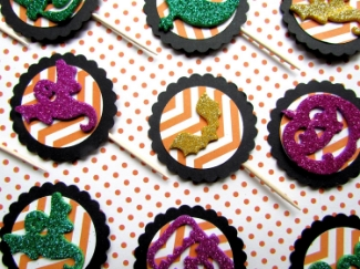 Kiddy Halloween Cupcake Toppers