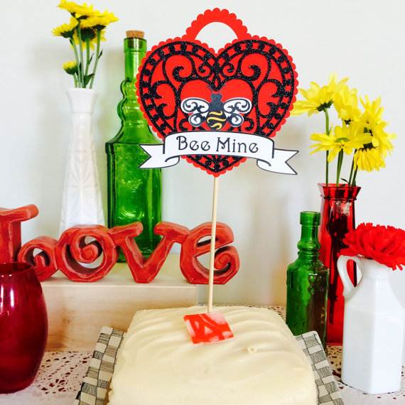 Bee Mine Locket Cake Topper
