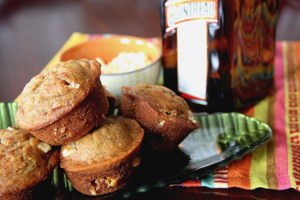 Orange White Chocolate Banana Muffins
