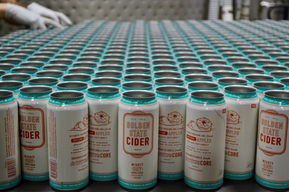 Golden State Cider is made from pressing 100% fresh west coast apples then will, that's about it. This hard apple cider beer has no sugars, gluten, added concentrates, or bad juju. Orchard to table fresh and California to the core.