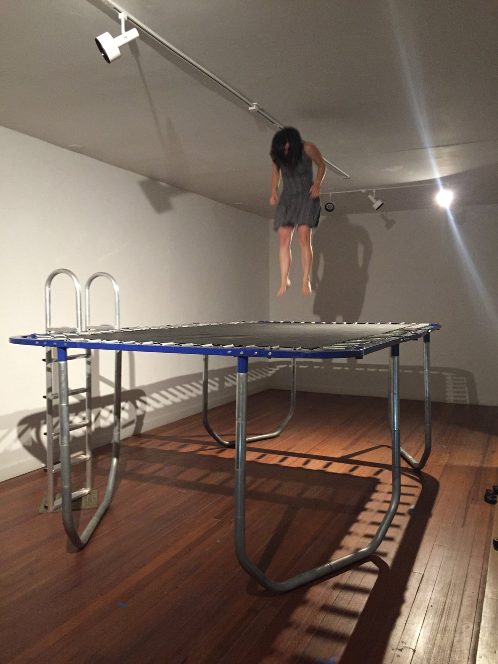 Trey Duvall Cocktail Formal Seaside Narmada Formal (in use), 2016 Trampoline, Paint 5' x 9' x 15'