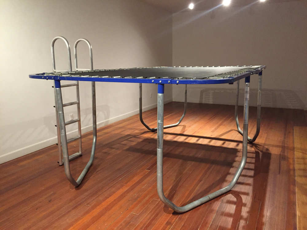 Trey Duvall Cocktail Formal Seaside Narmada Formal, 2016 Trampoline, Paint 5' x 9' x 15'
