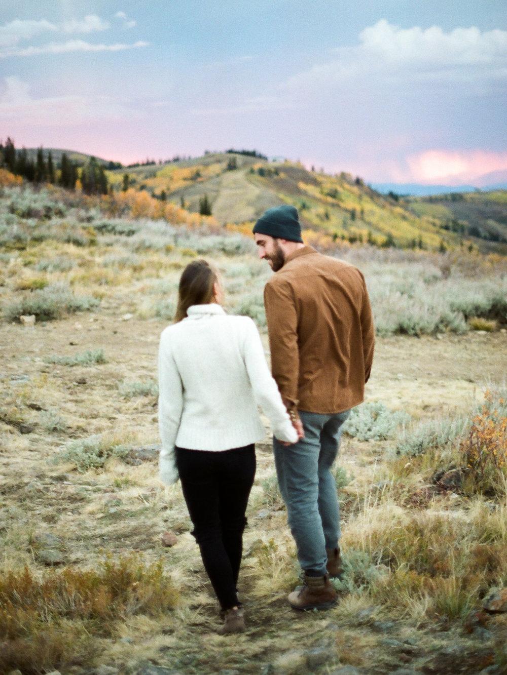Christine Gosch - Houston film photographer - Utah film photographer - mountain fall engagement session-4.jpg