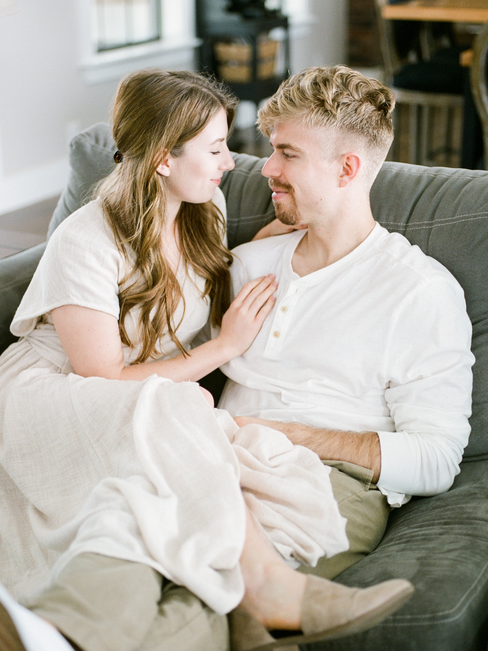at home engagement session - Christine Gosch - featured on Magnolia Rouge - film photographer - elopement and intimate wedding photographer-35.jpg