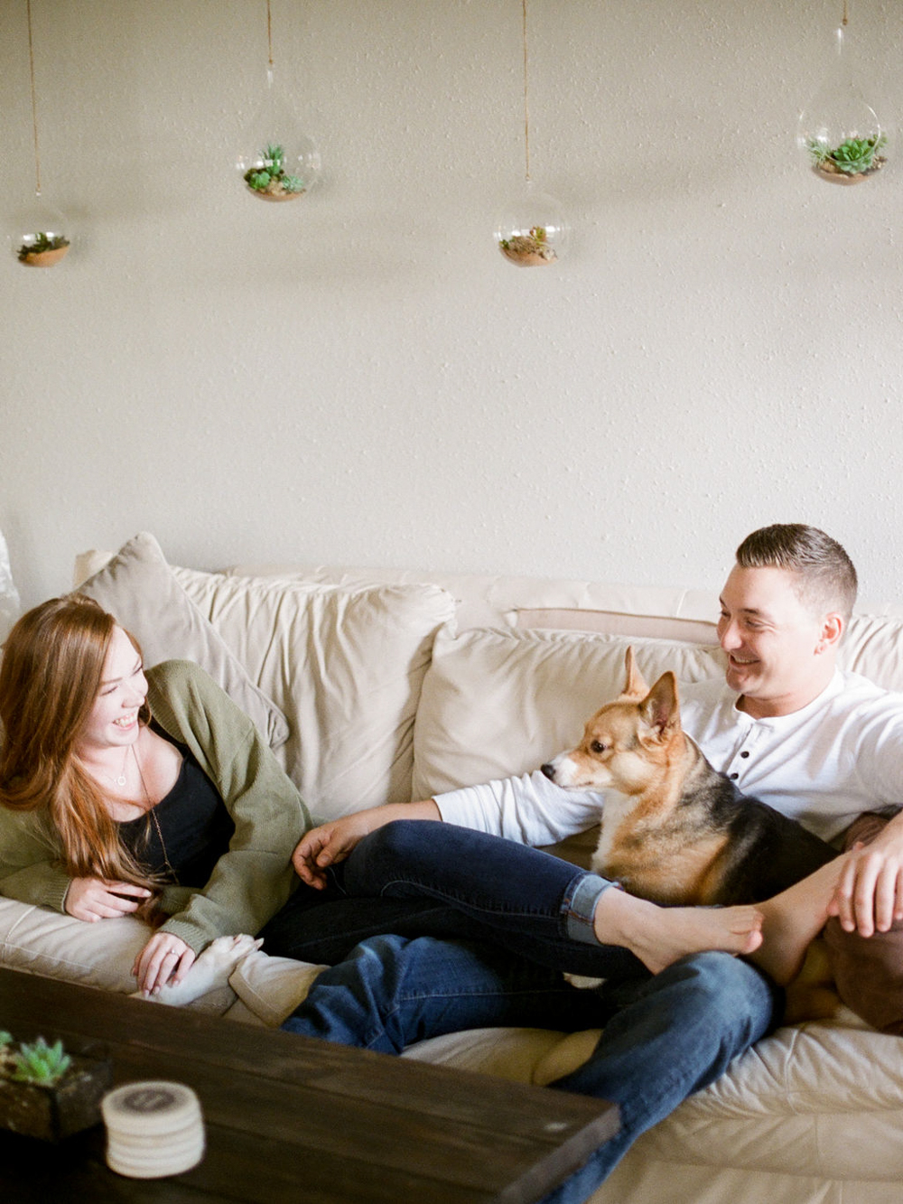 in home engagement session - film photographer - houston wedding photographer-3.jpg