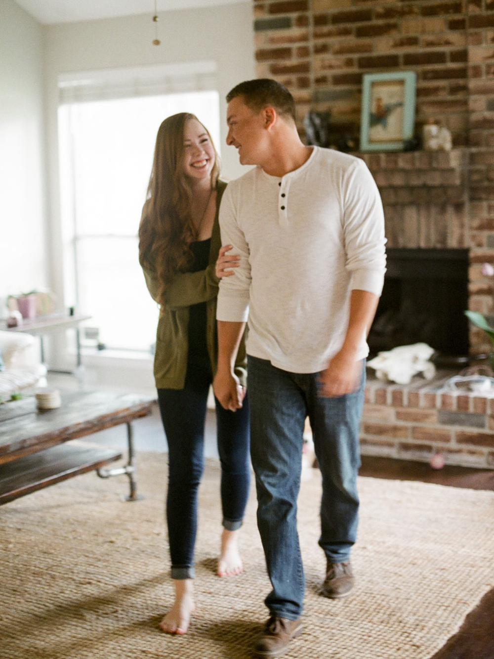 in home engagement session - film photographer - houston wedding photographer-6.jpg
