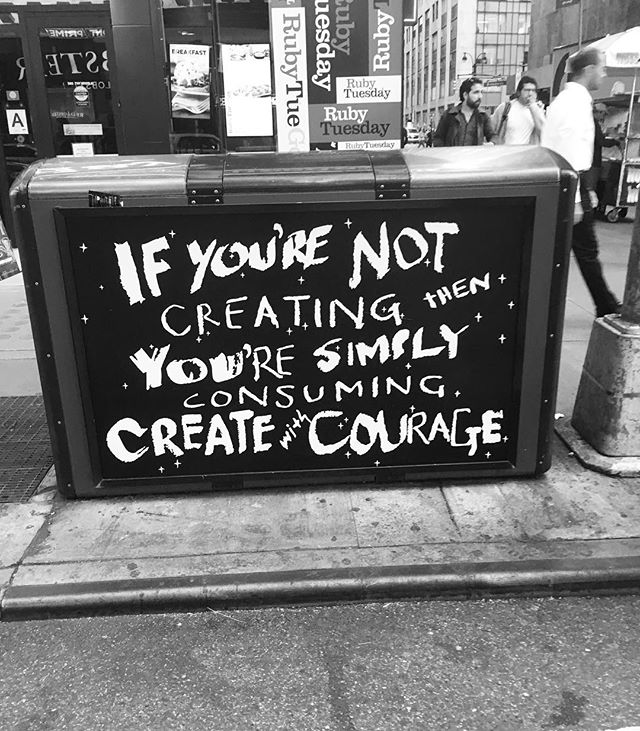 #create with #courage