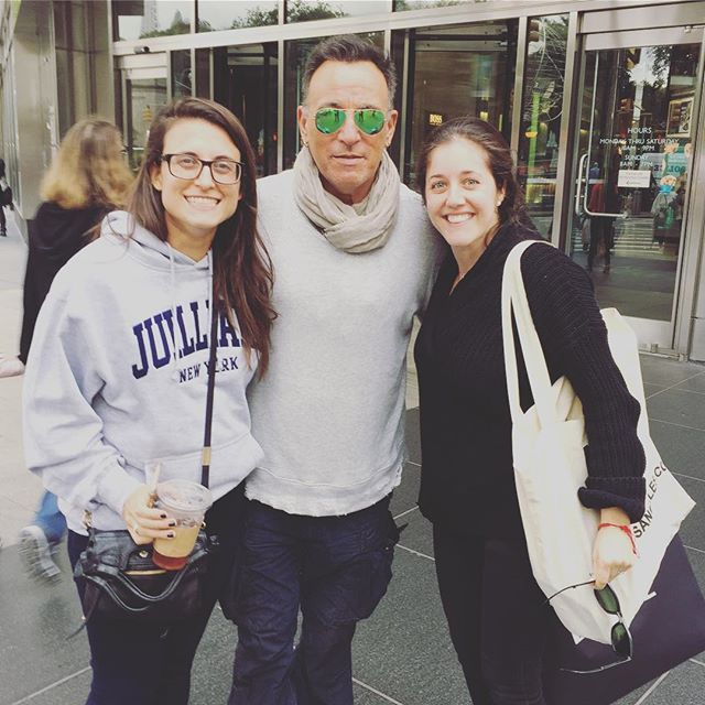 "Sometimes when getting a coffee you run into Bruce Springsteen so you FORCE him to take a picture with you and then you say ""good luck on Broadway!"" 😂😂😂😂🤣 #bornintheusa"